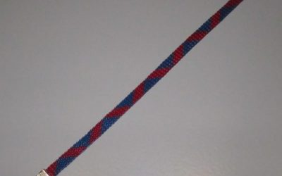 How to secure the fold-over ends on a woven bracelet.