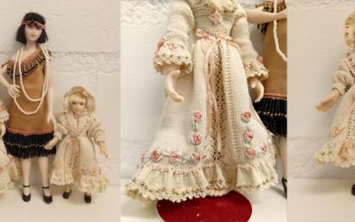 Beautiful dolls with crochet and Miyuki