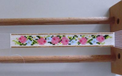 Flower pattern for bead weaving